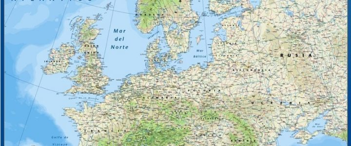 Mapa Europa Fisico