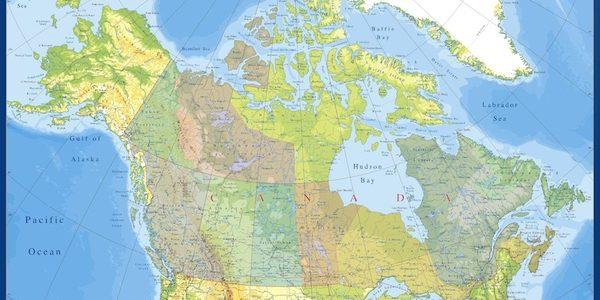 mapa canada