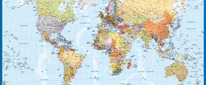 mapa mundo italiano