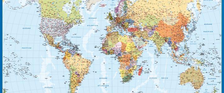 mapa mundo mural