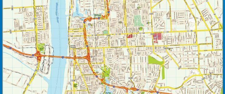 Mapa de Baton Rouge