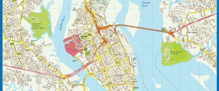 Mapa de Charleston